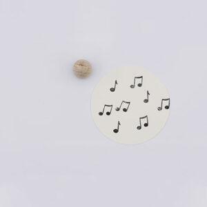 Perlenfischer stempel dubbele muzieknoot | De Kroonluchter