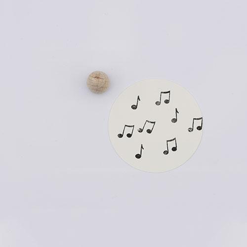 Perlenfischer stempel muzieknoot | De Kroonluchter