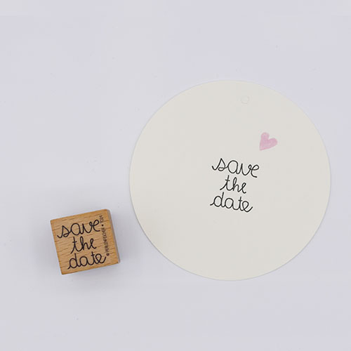 Stempel tekst save the date | De Kroonluchter