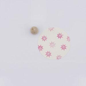Perlenfischer stempel vlokje mozaiek   De Kroonluchter