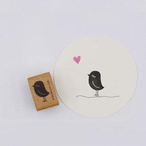 Perlenfischer stempel vogel dame | De Kroonluchter