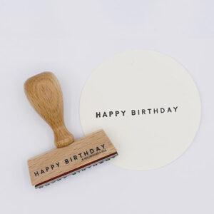 Perlenfischer stempel happy birthday   De Kroonluchter
